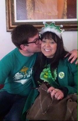 mom & Kyle St Patty's birthday